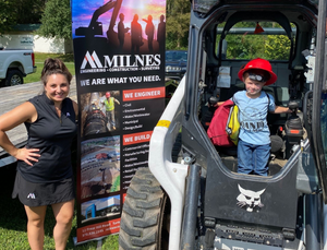 Milnes Construction, Engineering & Survey Attends Tunkhannock's Touch a Truck Event